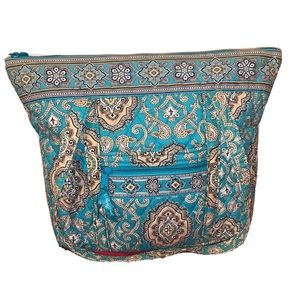 Vera Bradley paisley light blue print EUC TOTE